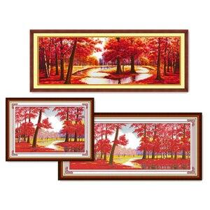 Image 1 - Eternal Love opports Kits de punto de cruz chinos, algodón ecológico estampado, 11ct, adornos navideños para el hogar