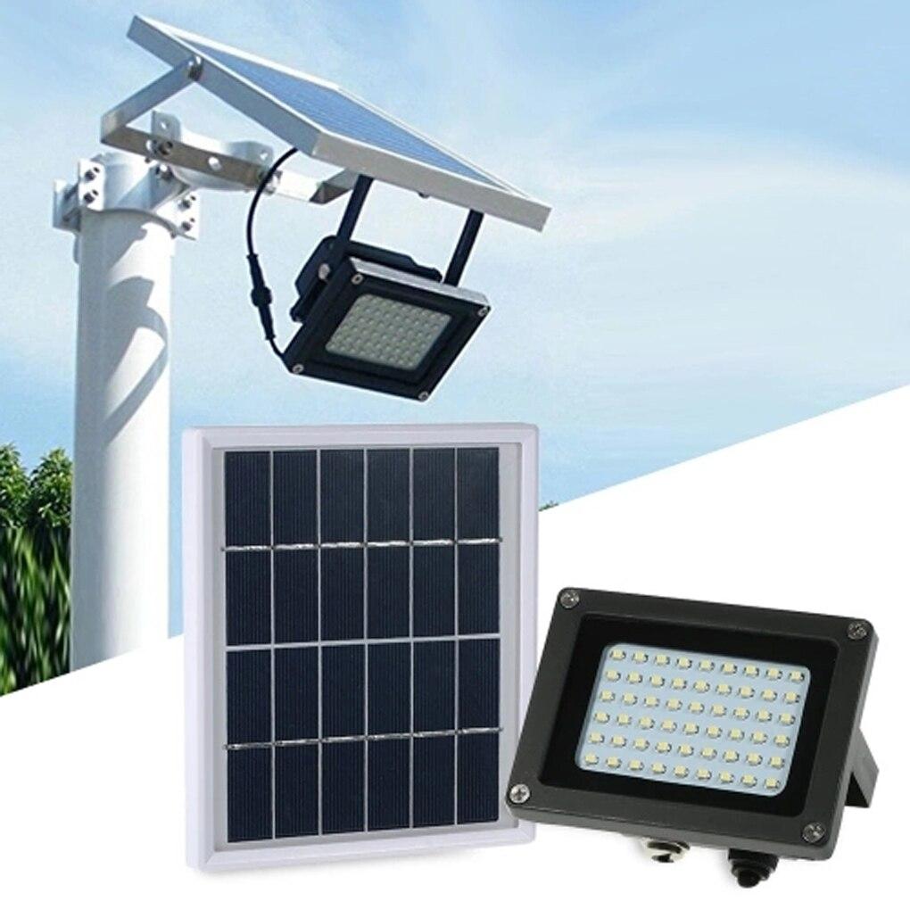 54 LED Solar Sensor Floodlight IP65 Waterproof Lawn Garden Street Outdoor Landscape Lamp Wall Spotlight Bulb