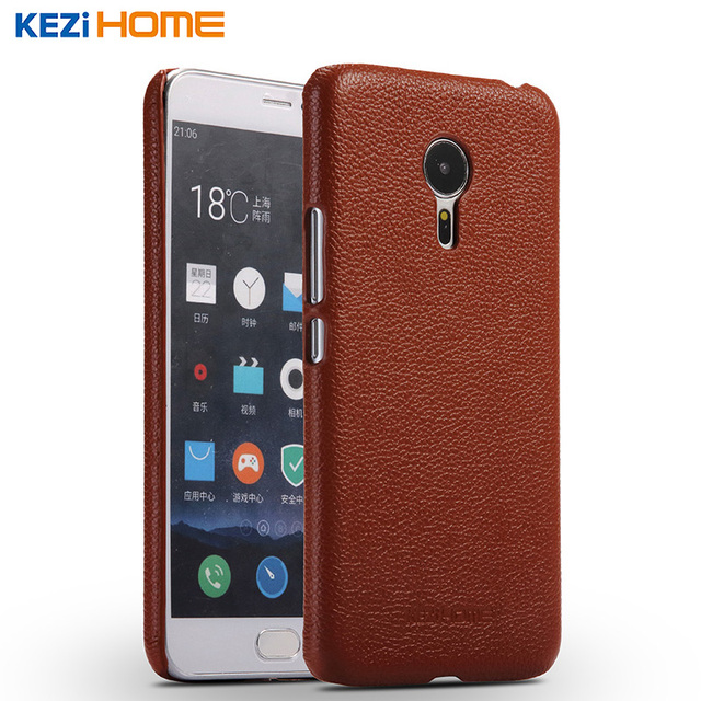 Fashion Genuine Leather Back Shell Cover Case For Meizu Pro 5 pro5 5.7 Inch