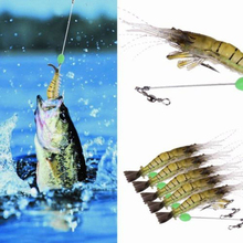 5pcs/pack Shrimp Fishing Lure Simulation Noctilucent Soft Prawn Lures With Hook HardBait For Fishing Tackle Accessory Pesca