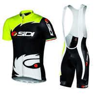 2018 Summer Sidi TEAM Cycling JERSEY Quick Dry Ropa Ciclismo Mens Bicycle Clothing GEL Breathable Pad Bib Short Sets