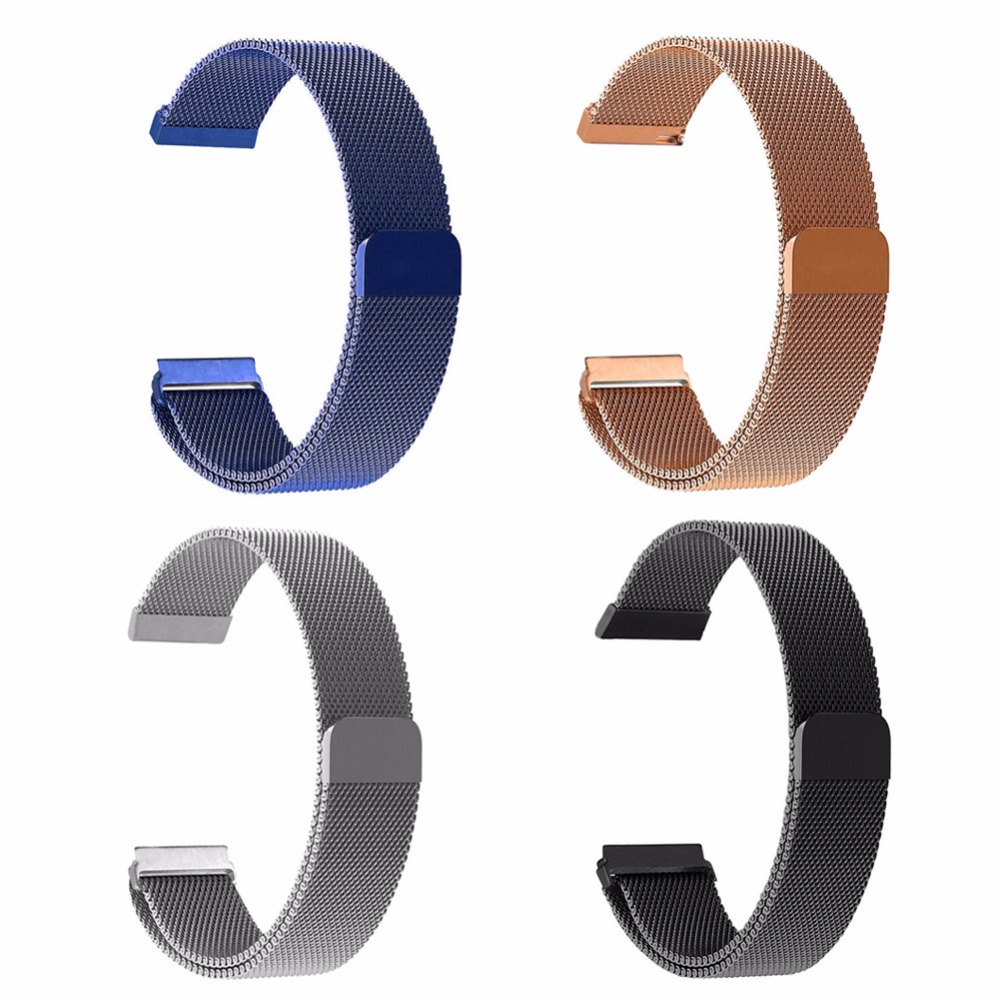 2017 New Luxury Milanese Magnetic Loop Stainless Steel Wristwatch Band Strap Link Bracelet Watchband For Fitbit