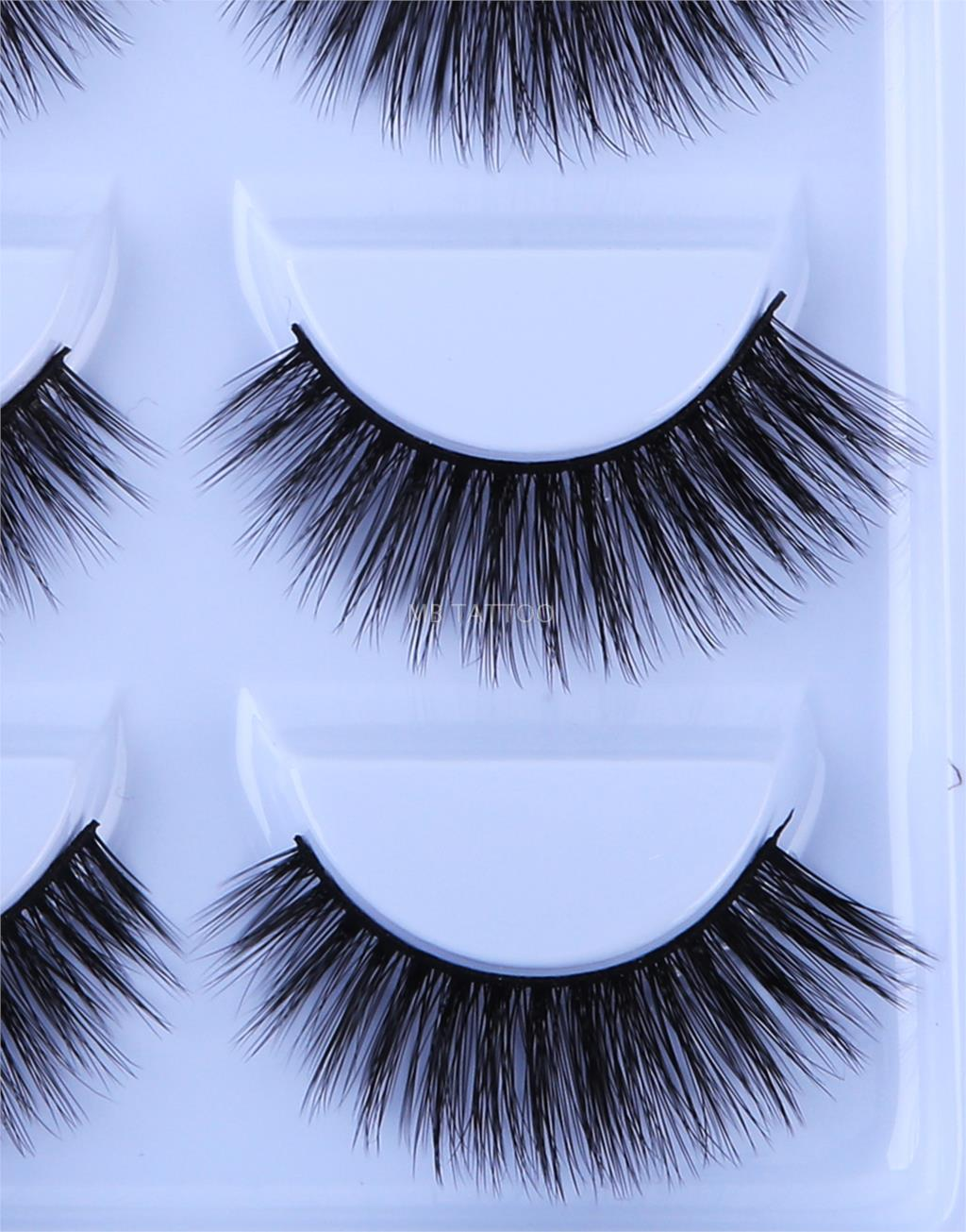HTB1lv7QQ3HqK1RjSZFgq6y7JXXaP New 3D 5 Pairs Mink Eyelashes extension make up natural Long false eyelashes fake eye Lashes mink Makeup wholesale Lashes