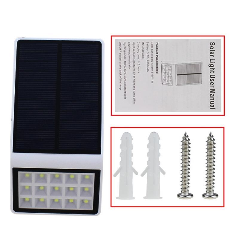 Lumiparty 15 Солнечная Светодиодные лампы Водонепроницаемый IP65 Солнечный свет Мощность сад Солнечный свет Открытый Бра двор Освещение