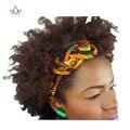 Novas Mulheres Do Vintage Headbands Acessórios Para o Cabelo Contas Africano Impresso Cera Varas Hairbands Headbands para Mulheres Cabelo Colorido WYS02