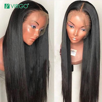 Virgo 360 Lace Frontal Wig Straight Lace Front Wig Pre Plucked Human Hair Lace Front Wigs For Black Women Remy Free Shipping