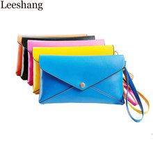 New Day Clutches Wallet PU Leather women's clutches Solid Hasp Evening Clutch Bags Purse Small Envelope Clutch Coin Purse Bolso