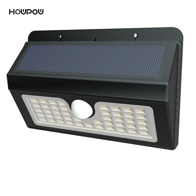 Howpow Waterproof 45 LED Solar Light 2835 SMD White Solar Power Outdoor Garden Light PIR Motion Sensor Pathway Wall Lamp 3.7V