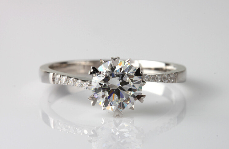 0.5ct 925 sterling solid silver ring arm twisting snowflake engagement synthetic diamond ring name engraving rings (JSA)