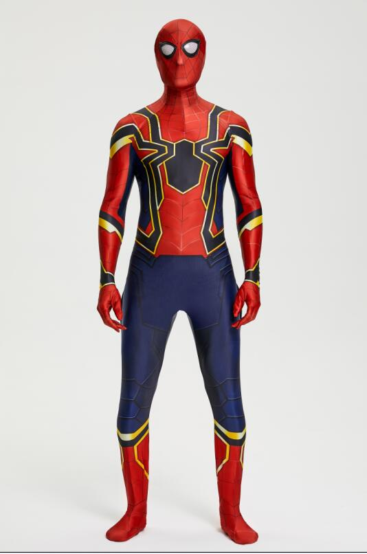 Wholesale 2018 Spiderman Costume Spiderman Homecoming Cosplay Costume Tom Holland Iron Spider Man boy Suit adult kids cosplay