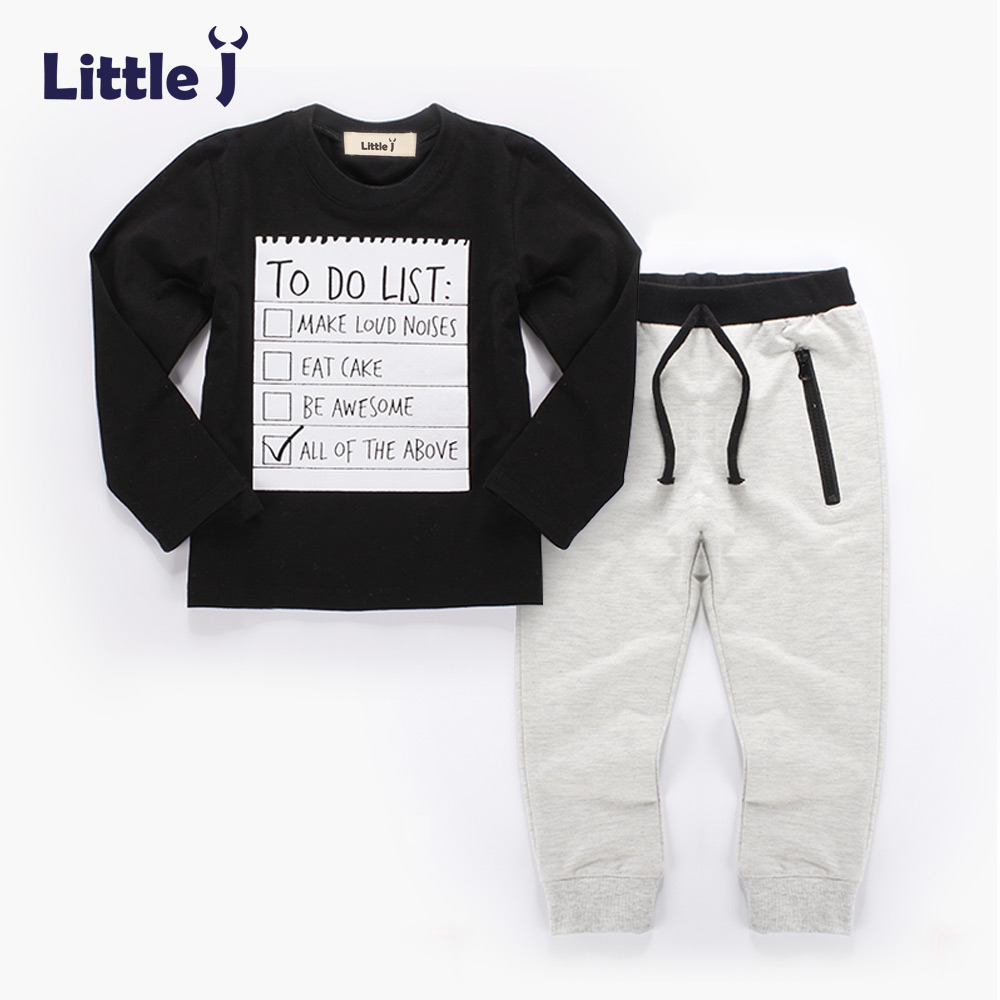 Clearance 2Psc Boy Baby Clothes Set Spring Autumn Dark Grey Long Sleeve T-Shirt + Long Pants Sport Suit Cotton Kids Clothes прогулочная коляска cool baby kdd 6699gb t fuchsia light grey