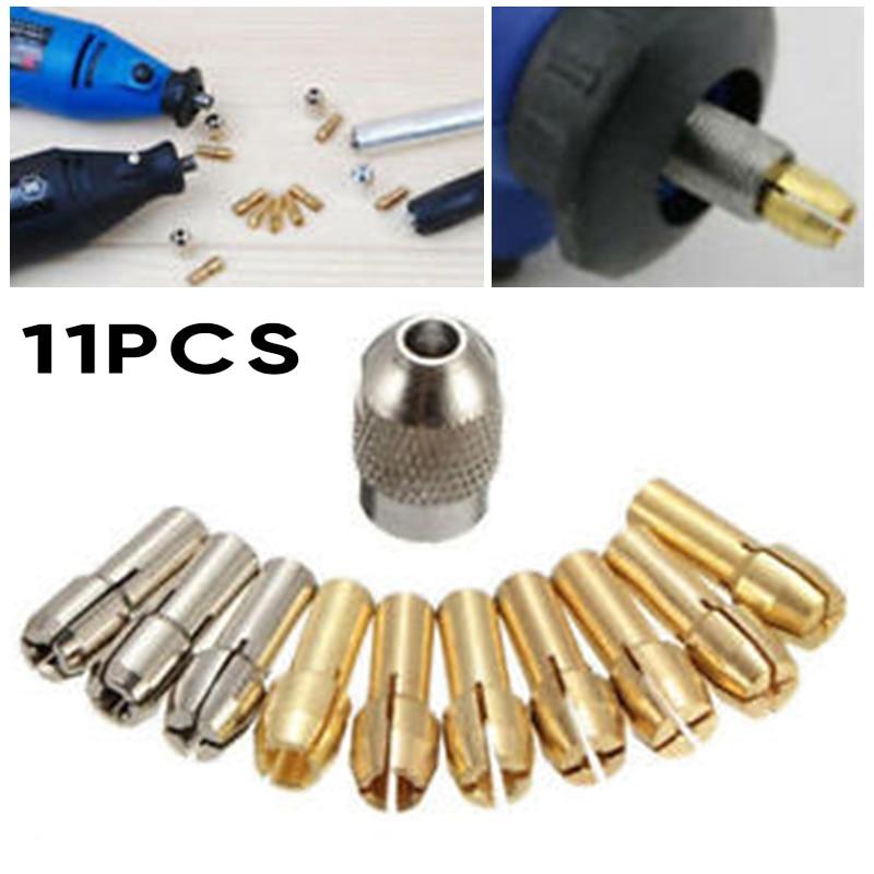 1pc Quick Change Tools Part Power Rotary Dremel 10Pcs New Screw Collet Nut Kit