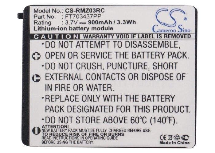 Cameron sino 900 mah bateria ft703437pp, RZ03-00120100-0000 para razer mamba, RC03-001201
