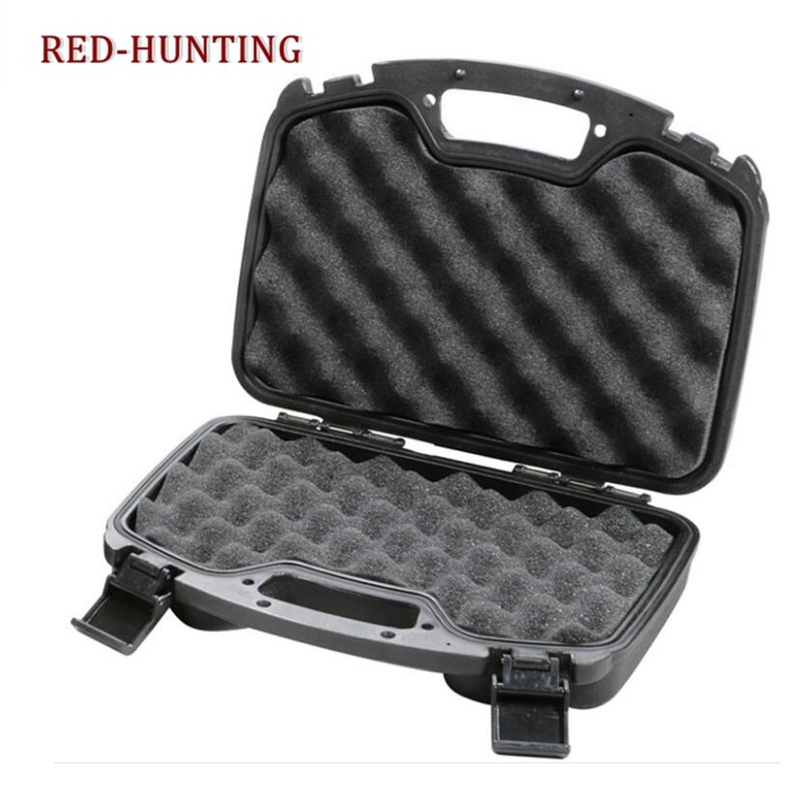 New Durable ABS Gun Case Pistol Gun Box Tactical Hard Gun Case Padded Foam Lining For Hunting Airsoft  Paintball