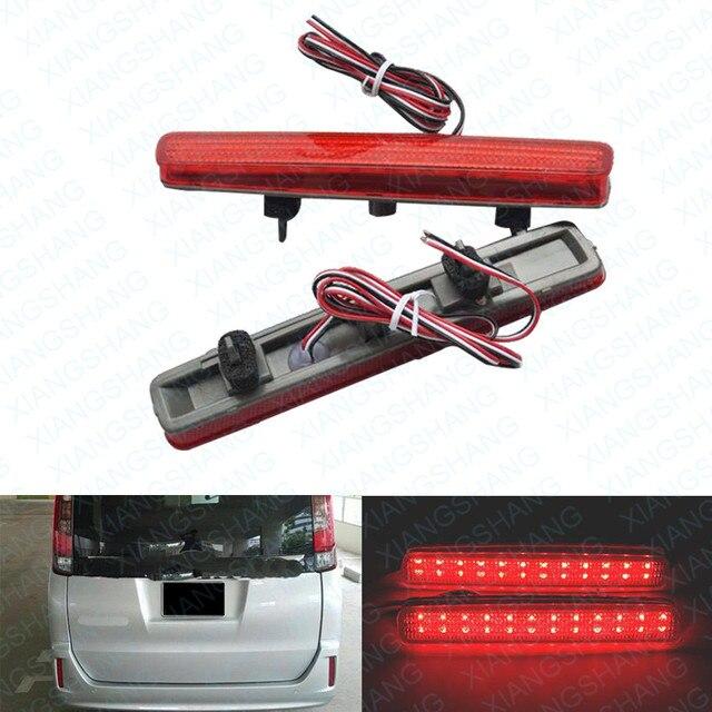 2x Red LEVOU Choques Refletor Traseiro Luz da Cauda do Freio de Estacionamento Luz de Aviso para a Toyota Pá Esquire NOAH/VOXY 80 Prius 40