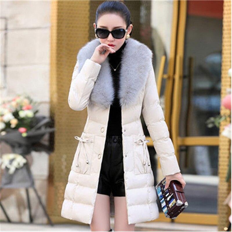 Blue Beige Chaud Coton Col Mode Haute Manteau light Survêtement Parker Femme Grand black Mince Arc D'hiver 53 De Qualité Femmes Uhytgf Cuir Pu Veste En Fourrure red f4BxxwZ