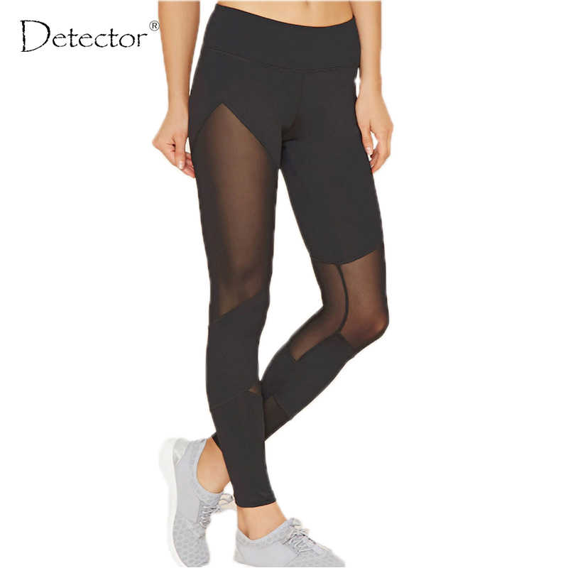 Detector Women Yoga Pants Elastic Compression Sports Exercise Tights Workout Trousers Professional Women Leggings