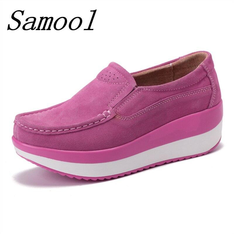 Épais Jx5 Chaussures Bout Femme Mode Confortable Bouche pink Printemps Fond Nouveau Augmenté Plates purple Rond Casual Blue Peu Profonde Secouer YzIwYqa