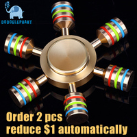 DODOELEPHANT JX 6 Fidget Spinner Hand Fidgets Spin Brass Metal For ADD ADHD Autism Kids Adult