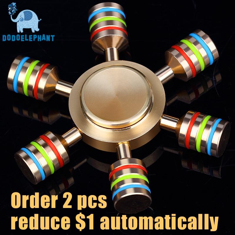 DODOELEPHANT JX 6 Rainbow Fidget Spinner Finger Spinner Hand Spinner Brass  Spiner Comes With Metal