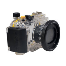 M coplusใต้น้ำกันน้ำดำน้ำที่อยู่อาศัยกรณี40เมตร130ftสำหรับCanon WP-DC47 Power S Hot S110 WPDC47