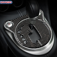 For nissan 370z z34 Carbon Fiber Decorative Frame Car Styling Control Gear Shift Panel Cover Trim Interior LHD RHD Accessories