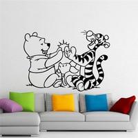 Winnie The Pooh Duvar Çıkartması Winnie Pooh Ayı Tigger Karikatür Vinil Sticker Kreş Odası Iç Dekorasyon Ev Çocuk Odası