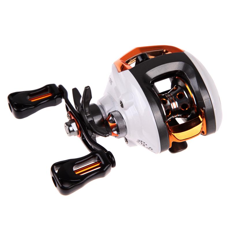 Prix pour Moulinets de pêche 12 + 1 BB Roulements À Billes Spinning Reel Baitcasting Reel Fishing Fly avec Système De Freinage Magnétique 6.3: 1 Main Gauche BHU2