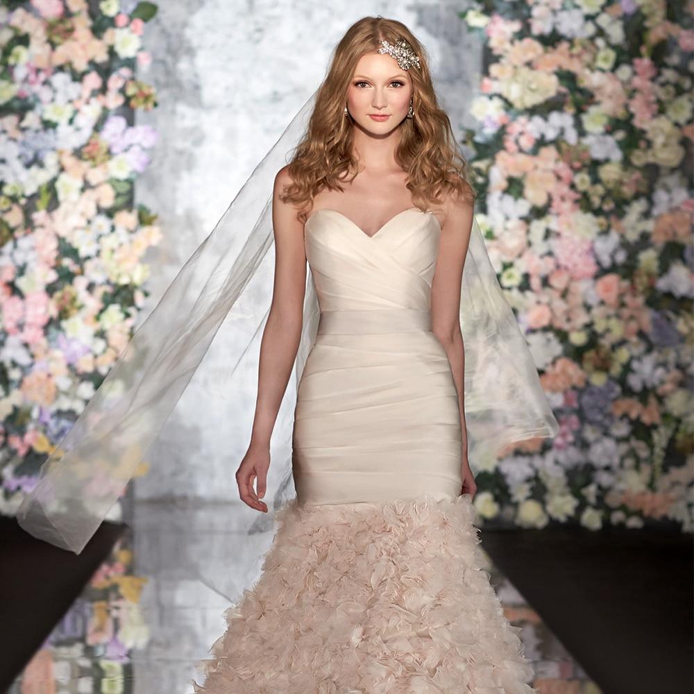 2015 Real Sale Bridal Gowns Sweetheart Mermaid Wedding Dress ...