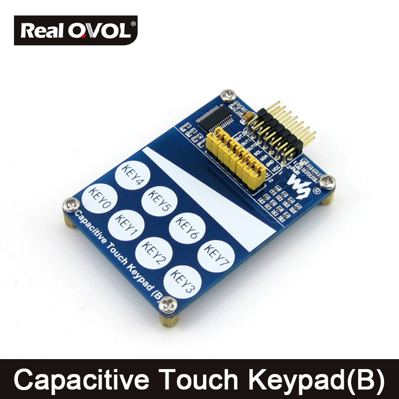 Capacitive Touch Keypad (B) Features TTP229-LSF Onboard With 8 Touch Keys And 1 Linear Touch Sensor I2C Or I/O Interface