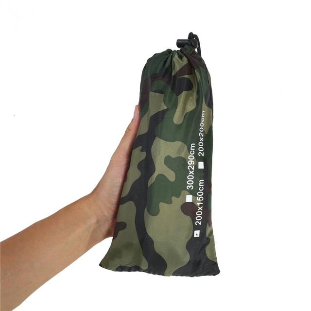 Multifunction Outdoor Camping Tent Sun Shelter Hiking Camping Awning Tarpaulin Shade Camouflage Jungle Woodland Forest Green Net