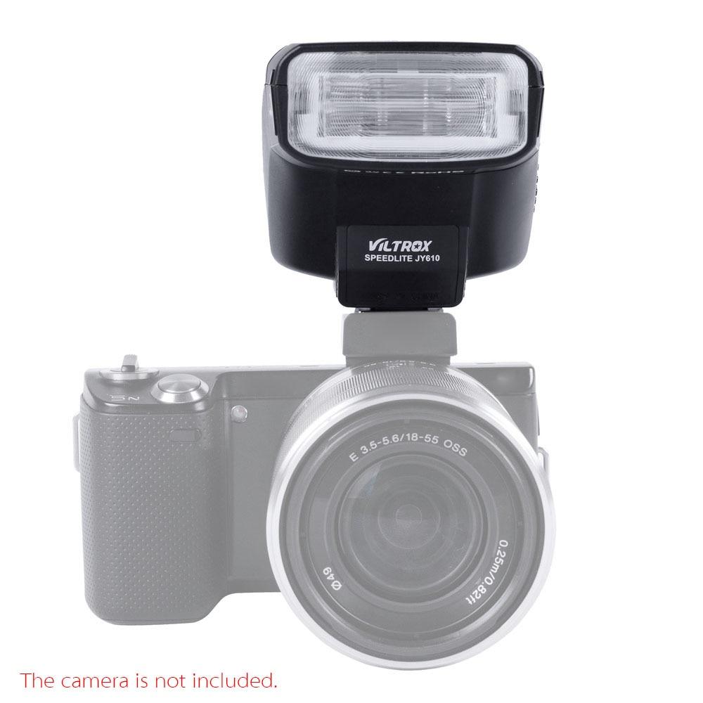 Prix pour Viltrox JY-610 Mini Sur-appareil photo Flash Speedlite pour Canon EOS M M2 650D 600D 1200D Sony A7R A7K NEX-6L DSLR Caméras
