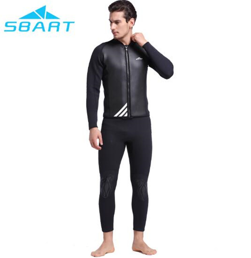 SBART 2MM Winter Thick Warm Neoprene Men Diving Suit Wetsuits Tops Swimwears Bathing Suits BathingSwimming Surfing Diving sbart upf50 rashguard 2 bodyboard 1006