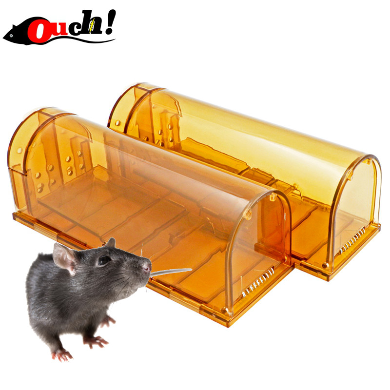 Ouch Humane Live Mouse Trap 2 stks No Kill Smart Mice Catcher Veilig - Tuinbenodigdheden