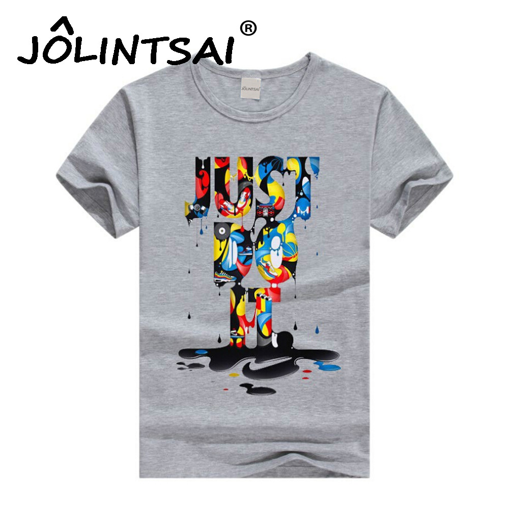 Hot sale tops new fashion men letter printed t shirt for Letter print t shirt