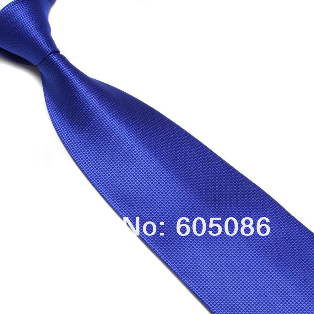 HOOYI 2018 solid color polyester blue tie for men neckties 15colors