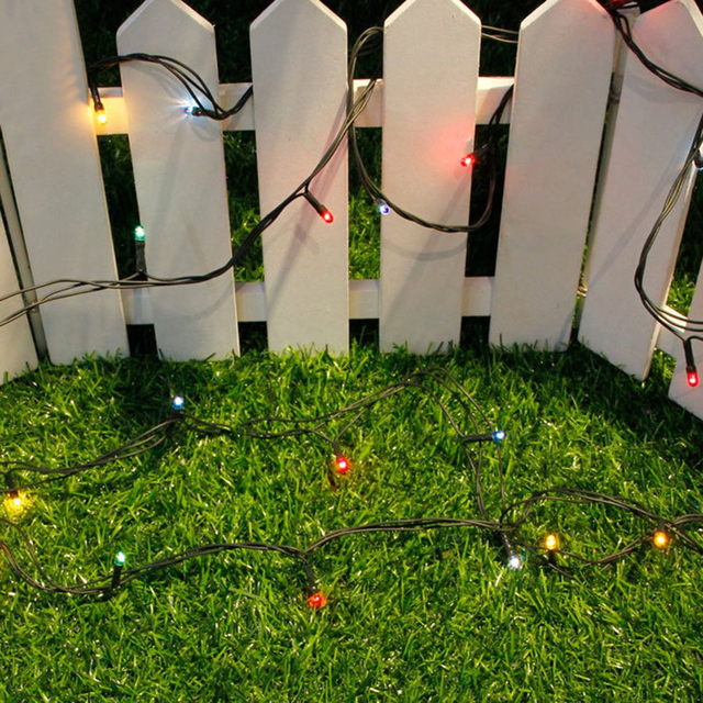 Icoco multicolor 5m led string lights christmas decoration outdoor icoco multicolor 5m led string lights christmas decoration outdoor party wedding festival ornament button switch power aloadofball Gallery