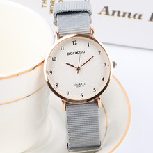 Top Brand Women Watches Ultra Thin Canvas Band Quartz Watch Fashion Female Wristwatch Relogio Feminino Zegarek Damski Clock brand julius women watches ultra thin leather strap watch band analog display quartz wristwatch luxury watches relogio feminino