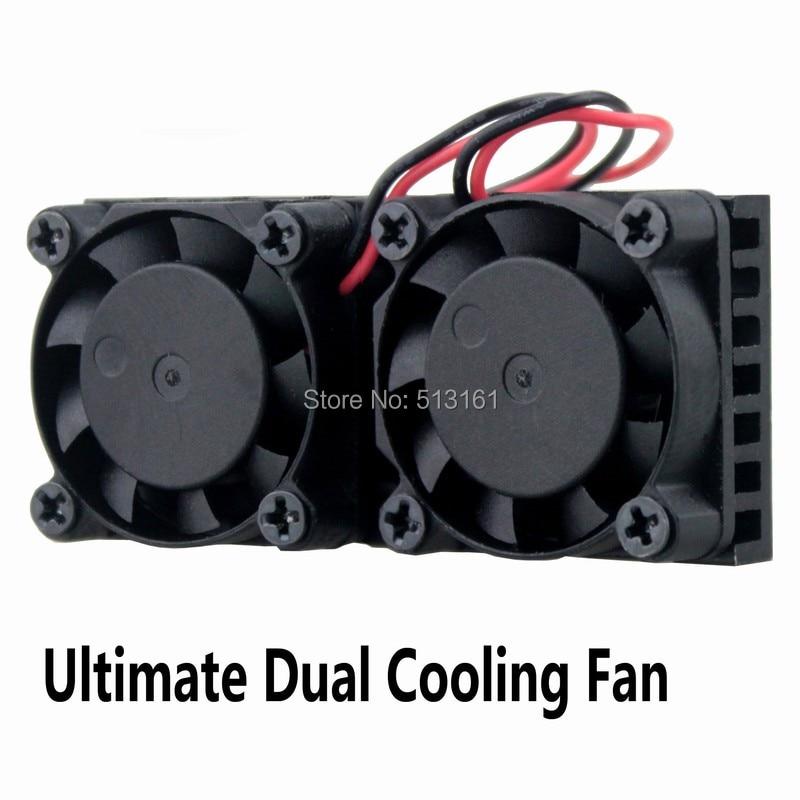 20pcs Gdstime Ultimate Raspberry Dual Fan Heatsink Cooler Double Cooling Fan For Raspberry Pi 3 2 NESPI Case in Fans Cooling from Computer Office