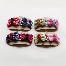 1 Set(4pcs) Mix Style Girls Headwear Hair Bow Set with Full Covered Clips Hair Clips Hair Pins Girls Hair Accessories