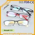 101 borde completo el envío gratis de plástico moda miopía gafas