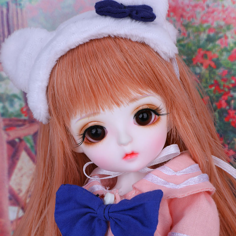 Free Shipping Full Set 1/6 BJD Doll BJD/SD Lina Baby Cute Miu Joint Doll Resin Doll With Glass Eyes For Baby Girl Birthday Gift цена