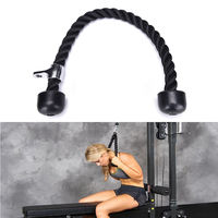 Exercise Gym Workout body building Resistance Bands Tricep Fitness Rope Push Pull Down Cord For Bodybuilding