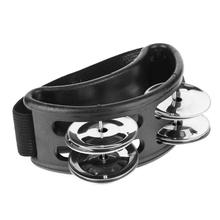 Elliptical Tambourine Cajon Box Musical Drum Instruments Companion Accessories Hand Foot Tambourine Metal Jingle Percussion