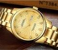 Роскошные часы Sangdo  39 мм  автоматические самокручивающиеся  высокое качество  деловые часы  Автоматическая Дата  золотой цвет  циферблат  му...