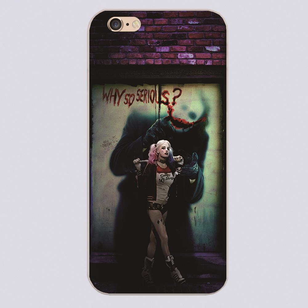 Harley Quinn Design phone cover cases for iphone 4 5 5c 5s 6 6s 6plus Hard Shell