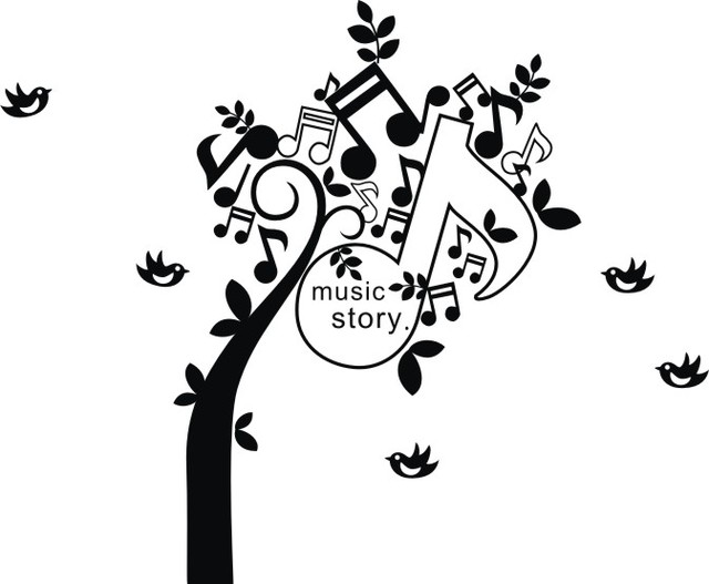Us 14 71 14 Off Music Note Tree Wall Stickers Children S Room Decoration Stickers Personalized Stickers Wallpaper The Music Room Wall Stickers In
