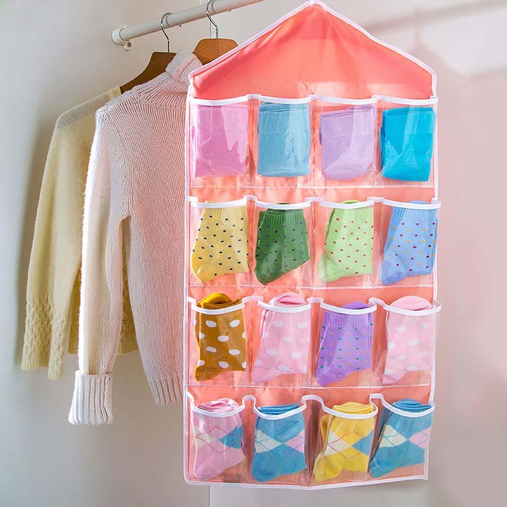 16 Pocket Over Door Hanging Bag Shoe Rack Hanger Storage Tidy