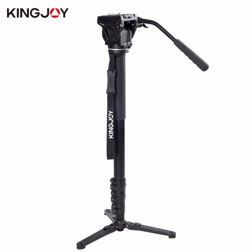 Kingjoy MP4008F + VT-3510 алюминиевый сплав Камера складной штатив монопод Kit Гладкие стабильный вращающихся съемки монопод набор