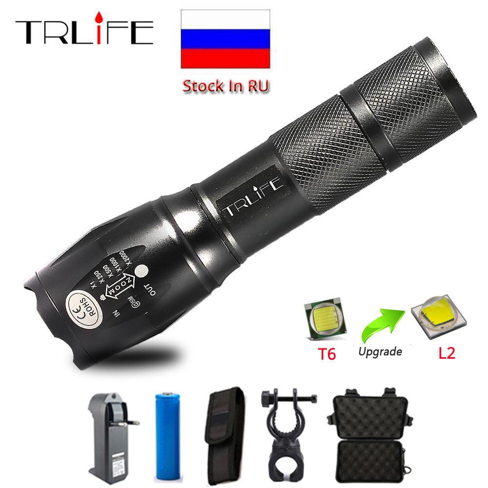 12000LM L2 T6 Tactical LED Flashlight Torch Zoomable Flash Light Lamp Lantern Rechargeable 18650 Battery Flashlights by 3xAAA